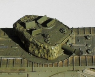 Churchill Mk. IV turret with hessian camoflage