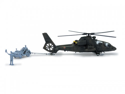 JGSDF OBSERVATION HELICOPTER OH-1 NINJA (W/UTILITY VEHICLE SET)