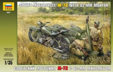 Soviet Motorcycle M-72 with Mortar
