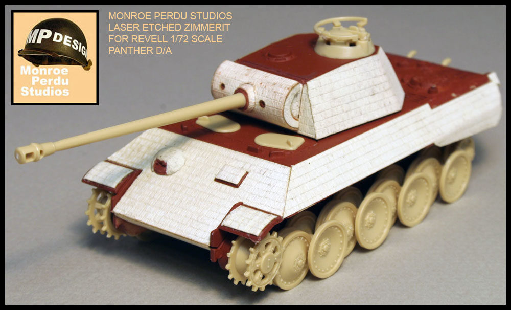 MAN Factory Zimmerit for 1/72 Scale Revell Panther D/A